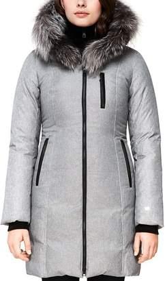 Soia & Kyo Christy Fox Fur Trim Down Coat