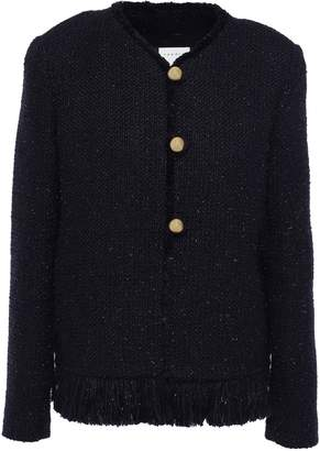 Sandro Fringe-trimmed Metallic Tweed Jacket