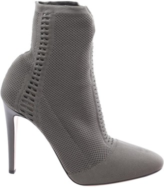 Gianvito Rossi Green Cloth Ankle boots