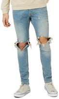 Topman Men's Ripped Stretch Skinny Jeans