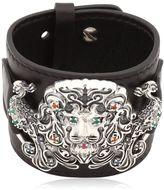 Gfase Lion's Paradise Leather Cuff Bracelet