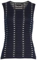 Emporio Armani Women's Jacquard Relief Knit Shell