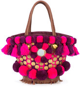 Figue Imani Samui Mini Tuk Tuk bag - women - Cotton/Leather/Acrylic/glass - One Size