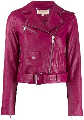 MICHAEL Michael Kors Wrinkled Biker Jacket