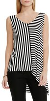 Vince Camuto Women's 'Stella' Stripe V-Neck Top