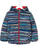 Paul Smith striped reversible padded coat