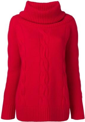 Philo Sofie Embossed Turtleneck Sweater