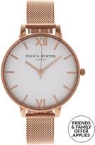 Olivia Burton Big White Dial Mesh Strap Watch