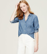 LOFT Easy Chambray Softened Shirt