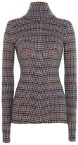 Stella McCartney turtleneck check sweater