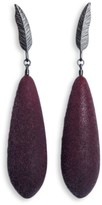 Diana Arno Winged Ambitions Silver Feather Earrings With Earberries