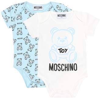 Moschino Kids Baby Pack of 2 cotton onesies