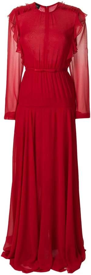 Giambattista Valli ruffled flared dress