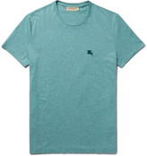 Burberry - Slim-fit Mélange Cotton-jersey T-shirt