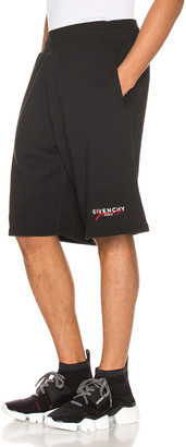 Givenchy Print Signature Short in Black & Red | FWRD