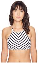 Tommy Bahama Channel Surfing High-Neck Halter Bikini Top Women's Swimwear