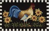 Nourison Black Rooster Hand-Hooked Rectangle Rug