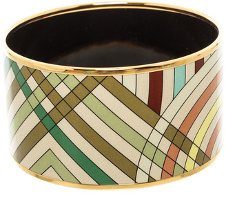 Hermes Plated Extra Wide Bangle