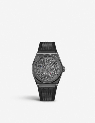 Zenith 95.9001.670/77.R791 Defy Classic Range Rover brushed titanium and rubber watch
