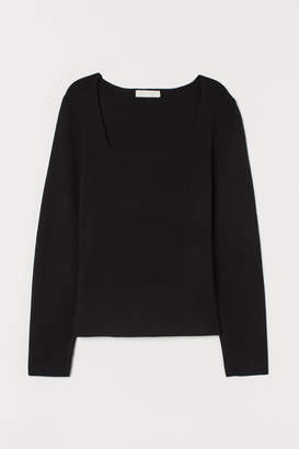H&M Fitted jersey top