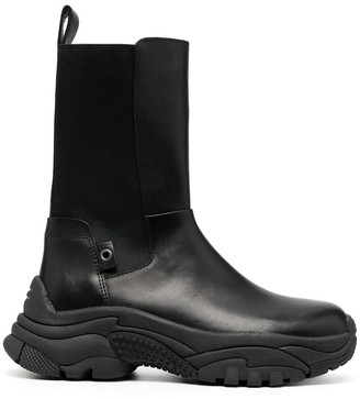 Ash Adapter leather boots