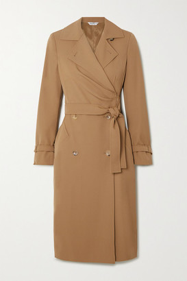 Max Mara Lucia Wool Wrap Dress - Camel