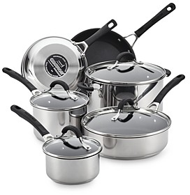 Circulon Innovatum Stainless Steel Nonstick 10-Piece Cookware Set (57% off) Comparable value $300