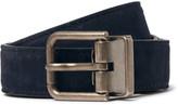 Dolce & Gabbana 2.5cm Navy Suede Belt