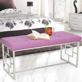 Bronx Corston Upholstered Bench Ivy Color: Purple