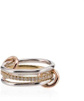 Spinelli Kilcollin 18kt white gold Sonny diamond link ring