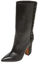 Valentino Garavani Leather High Heel Boot
