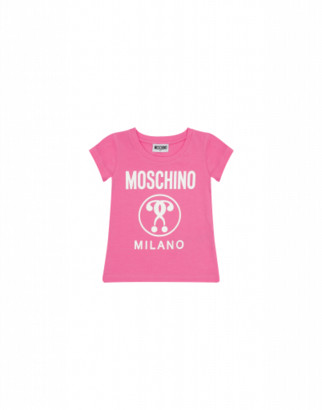 Moschino Double Question Mark T-shirt Woman Pink Size 4a It - (4y Us)