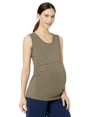 Ripe Maternity Women's Maternity Mini Stripe Nursing Tube Tank