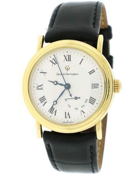 Girard Perregaux Girard Perragaux 4795 18K Yellow Gold & Leather Automatic 34mm Unisex Watch