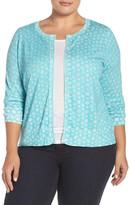 Sejour Fine Gauge Knit Cardigan (Plus Size)