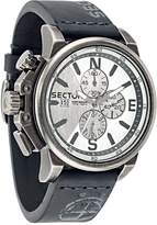 Sector Men's 51mm Chronograph Black Calfskin Mineral Glass Watch R3271776008