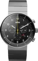 Braun Men's BN0095BKSLBTG Prestige Chronograph Analog Display Swiss Quartz Silver Watch