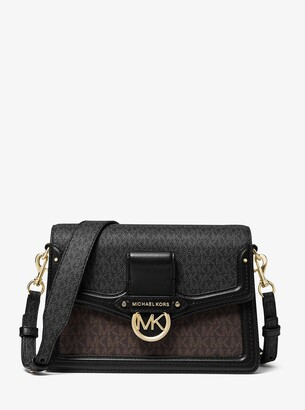 MICHAEL Michael Kors Jessie Medium Two-Tone Logo Shoulder Bag
