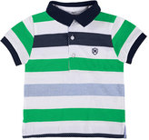 Mayoral Striped Cotton Jersey Polo Shirt, Green/Multicolor, Size 6-36 Months