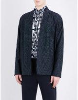 Etro Aztec Zebra-print Wool And Cotton-blend Jacket
