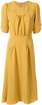 No.21 fitted gathered detail dress