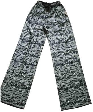Hermes Black Silk Trousers for Women