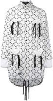 Kokon To Zai gathered pockets longline shirt