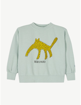 Bobo Choses Leopard print cotton sweatshirt 4-11 years