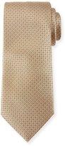 Canali Micro-Dot Silk Tie, Neutral (Tan)