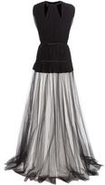 Giambattista Valli Pleated silk-crêpe and tulle dress