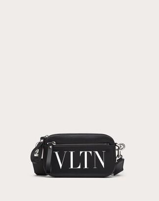 Valentino Garavani Uomo Small Vltn Leather Belt Bag Man Black/white 100% Pelle Bovina - Bos Taurus OneSize