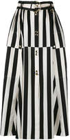 Nina Ricci striped A-line midi skirt