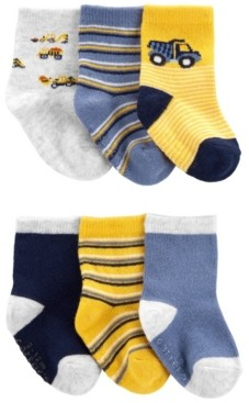 Carter's Baby Boys Crew Socks, Pack of 6