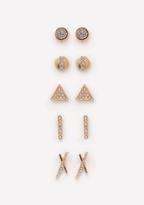 Bebe Geometric Stud Earring Set